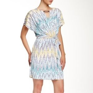 Jessica Simpson printed faux wrap dress